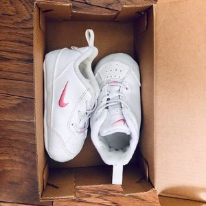 Pink and White Infant Nike's